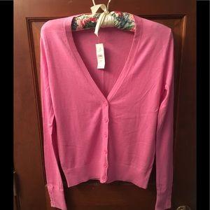 Loft NWT Cotton Cardigan--Bubble gum pink-XXS